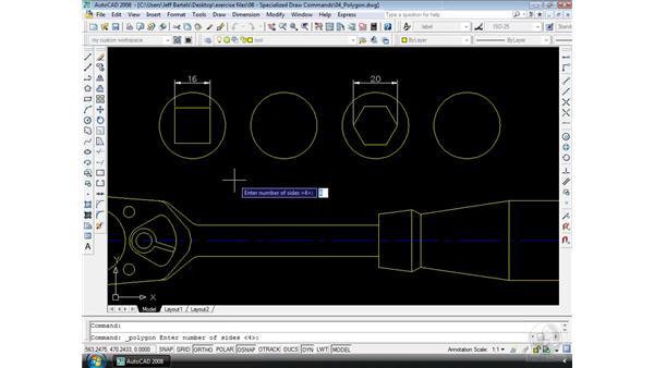 Polygon: AutoCAD 2008 Essential Training