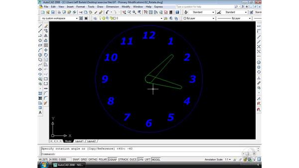 Rotate: AutoCAD 2008 Essential Training