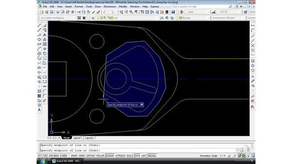 Using key-ins: AutoCAD 2008 Essential Training