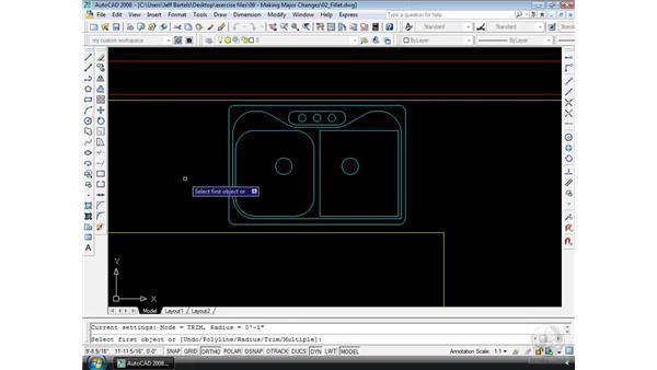 Fillet: AutoCAD 2008 Essential Training