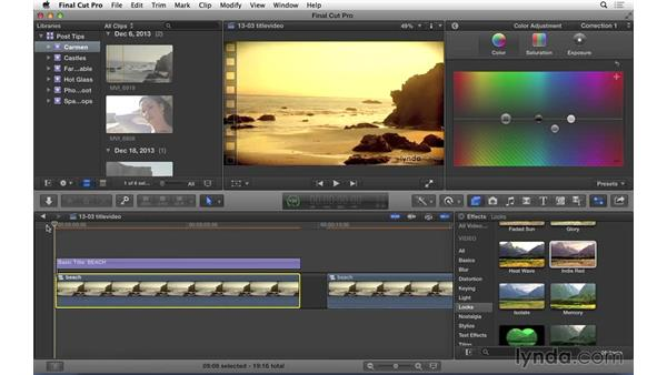 Editing video inside titles in FCP X: Video Post Tips Weekly