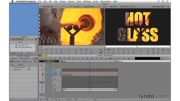 Editing Video inside titles in Avid Media Composer: Video Post Tips Weekly