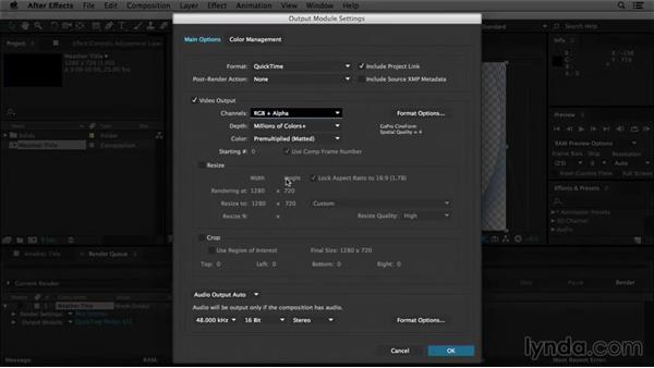 Welcome: After Effects Tips and Techniques: Rendering and Exporting
