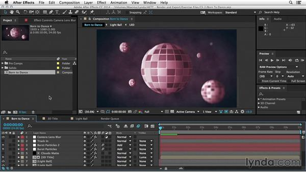 The prerender and proxy workflows: After Effects Tips and Techniques: Rendering and Exporting