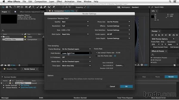 Field rendering: After Effects Tips and Techniques: Rendering and Exporting