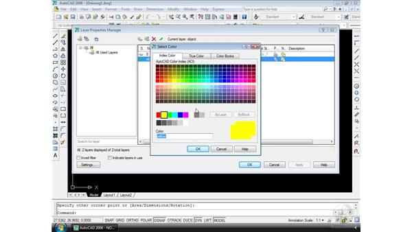 The Layer Properties Manager: AutoCAD 2008 Essential Training