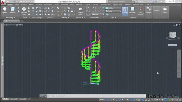 Using the exercise files: Modeling a Staircase with AutoCAD