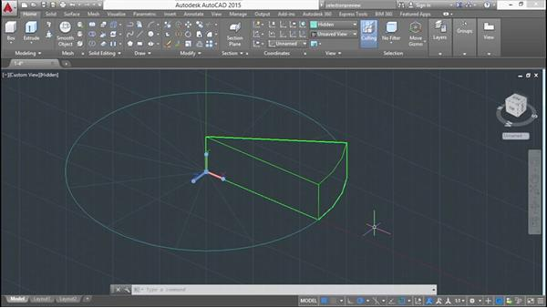 Drawing on faces: Modeling a Staircase with AutoCAD