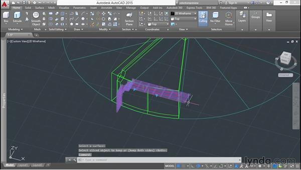 Slicing with surfaces: Modeling a Staircase with AutoCAD