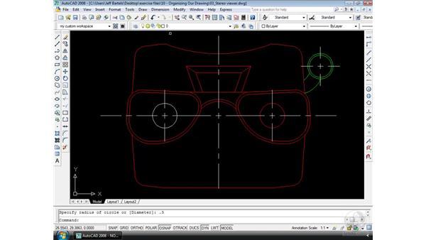 Layer control: AutoCAD 2008 Essential Training