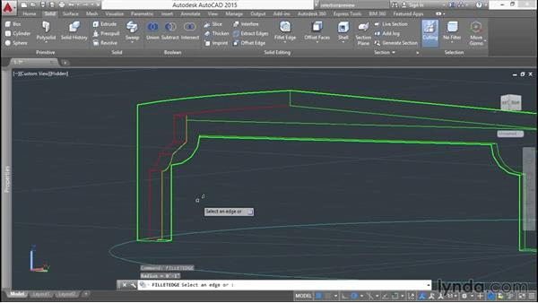 Creating chamfers and fillets in 3D: Modeling a Staircase with AutoCAD