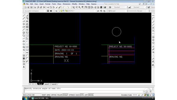 Text justification: AutoCAD 2008 Essential Training