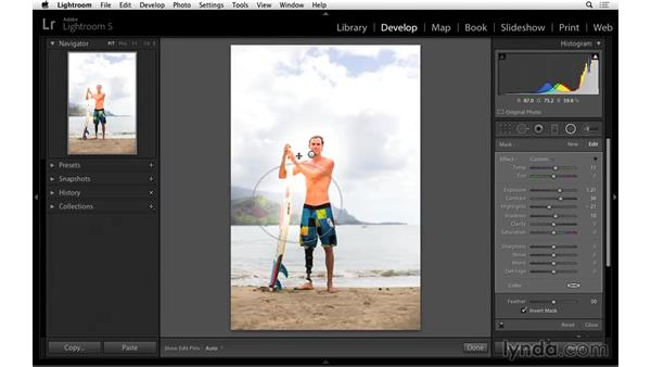Lighting a portrait with the Radial Filter: Portrait Project: Lighting a Portrait with Lightroom