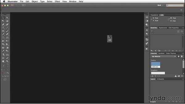 Creating a web design workspace: Illustrator CC for Web Design: Core Concepts