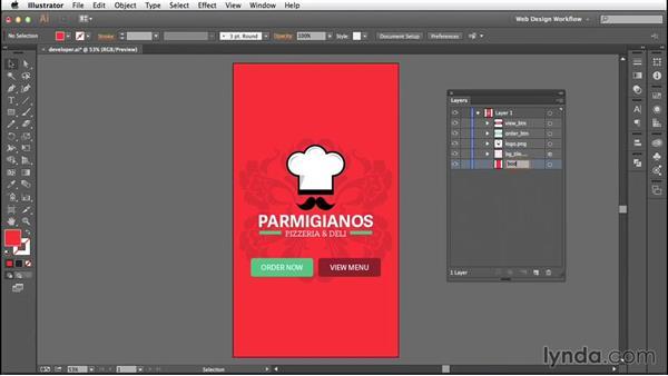 Creating developer-friendly files: Illustrator CC for Web Design: Core Concepts