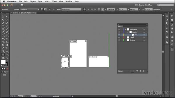 Solution: Build a responsive template: Illustrator CC for Web Design: Core Concepts