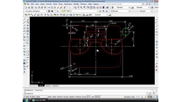 Tweaking dimensions: AutoCAD 2008 Essential Training