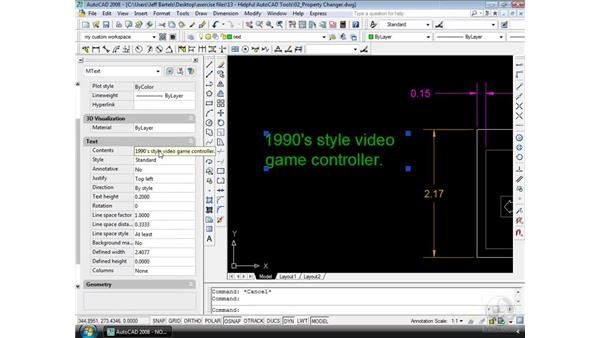 The Property Changer: AutoCAD 2008 Essential Training