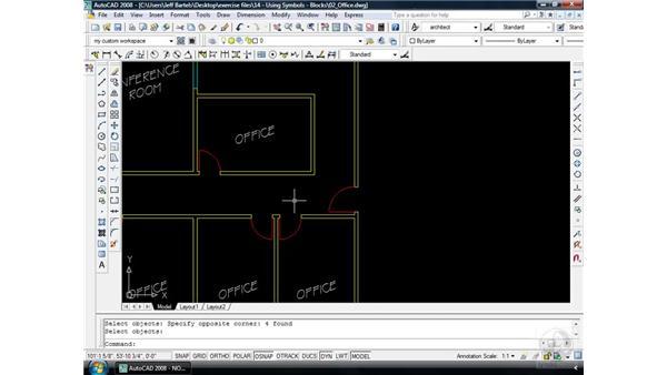 Using blocks: AutoCAD 2008 Essential Training