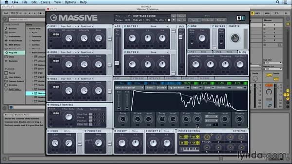 Envelopes, LFOs, and modulation: Up and Running with MASSIVE