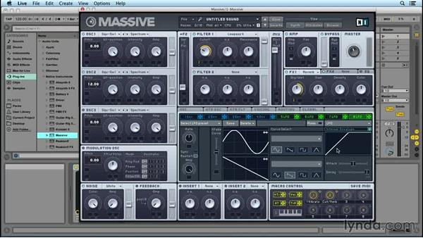 The Macro knobs: Up and Running with MASSIVE