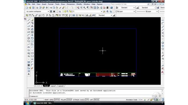 Layouts pt. 2: Inserting a title block: AutoCAD 2008 Essential Training