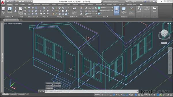 Using Presspull to create windows: 3D Printing a Scale Model with AutoCAD