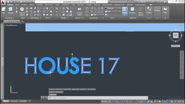 Working with 3D text: 3D Printing a Scale Model with AutoCAD