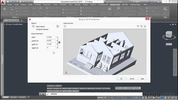 3D printing with AutoCAD: 3D Printing a Scale Model with AutoCAD