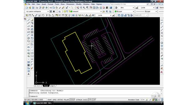 Sizing modelspace dimensions: AutoCAD 2008 Essential Training