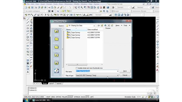 Drawing compatibility: AutoCAD 2008 Essential Training