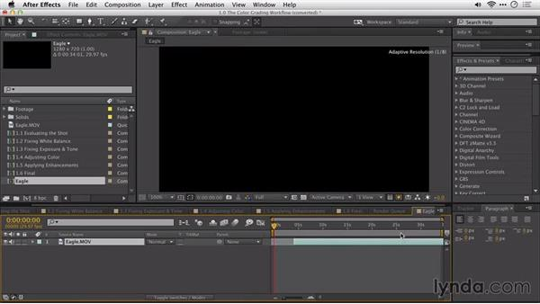 Moving from Adobe Premiere Pro to After Effects: After Effects Guru: Color Grading Footage