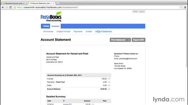 Managing subcontractors: FreshBooks Essential Training