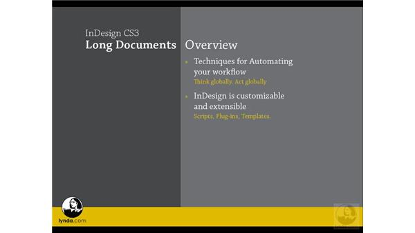 Long document overview: InDesign CS3 Long Documents