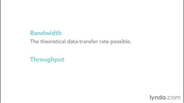 Understanding the difference between bandwidth and throughput: Up and Running with Wireless Networking