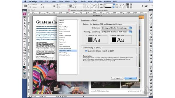 Working with templates: InDesign CS3 Long Documents