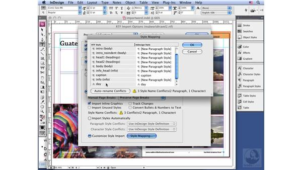 Preparing text: InDesign CS3 Long Documents