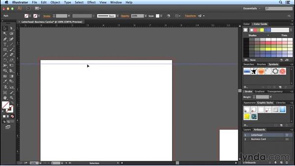 Adding guides: Designing Templates with Illustrator
