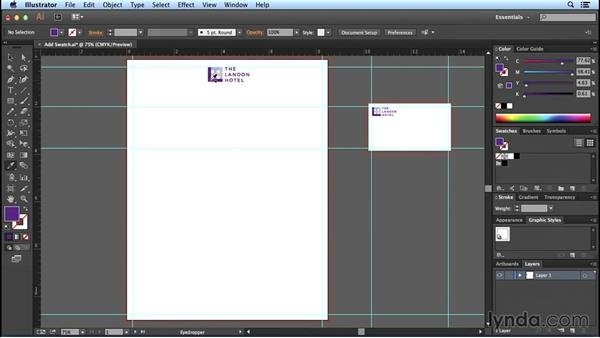 Adding swatches: Designing Templates with Illustrator