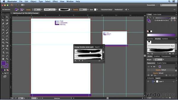 Adding brushes and symbols: Designing Templates with Illustrator