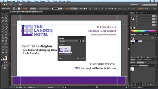 Using Illustrator CC Libraries: Designing Templates with Illustrator