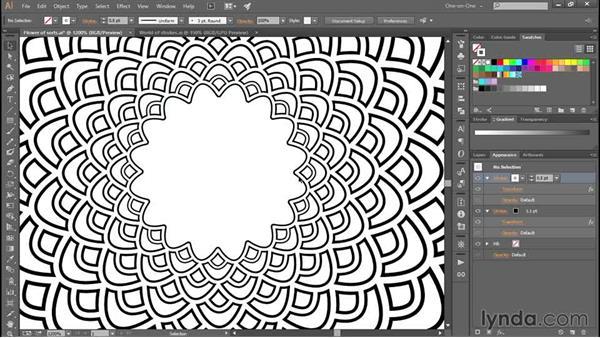 383 Stroking the petals to create a lattice effect: Deke's Techniques