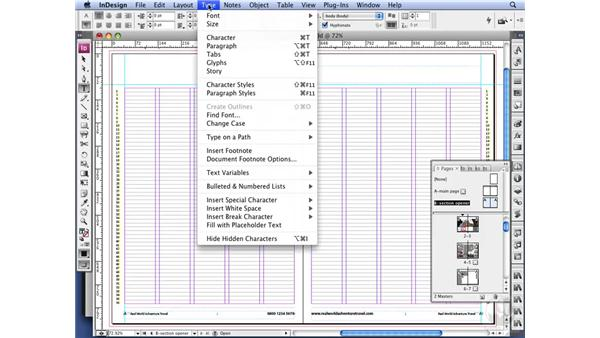 Working with section markers: InDesign CS3 Long Documents