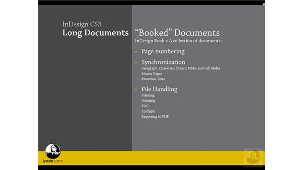 Book feature overview: InDesign CS3 Long Documents