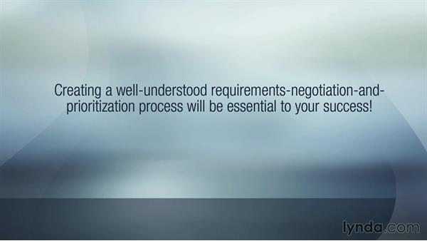 Managing changing requirements: Developing Project Requirements