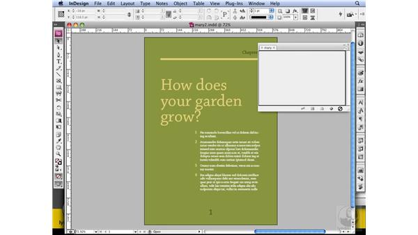 Creating books: InDesign CS3 Long Documents