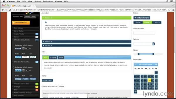 Using the ThemeRoller: Up and Running with jQuery UI