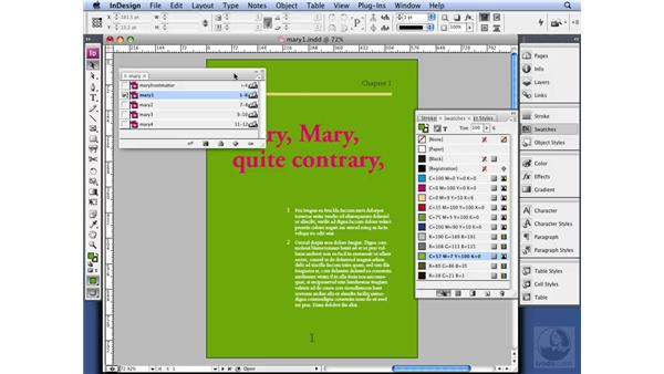 Synchronizing across a book: InDesign CS3 Long Documents