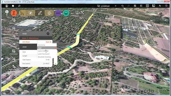 Understanding the capabilities of the module: Up and Running with Roadway Design for InfraWorks 360