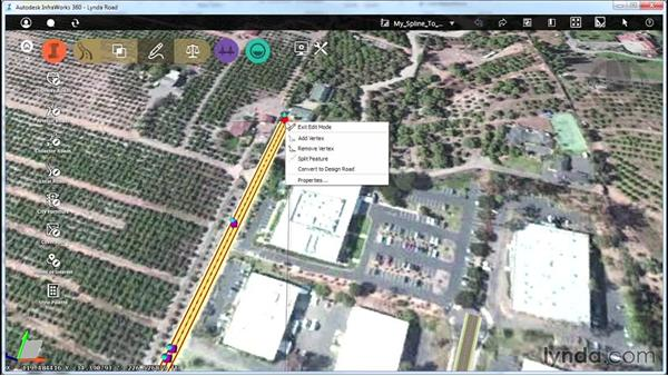 Converting spline roads to design roads: Up and Running with Roadway Design for InfraWorks 360
